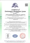 ISO 14001 certificate -English